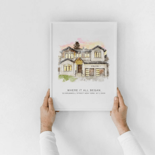 framed house painting